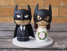Batman wedding cake topper! Everybody knows I\'m gonna have to do ...