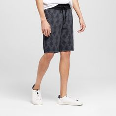 Mossimo Supply Co., Men's Diamond Pattern Knit Black Shorts XL