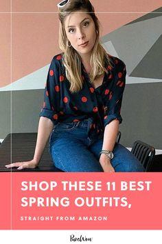 11 spring outfits you can shop on Amazon right now #purewow #amazon #spring #fashion #style Fashion 2018, Fashion Dresses, Style Fashion, Classy Fashion, Modest Fashion, Womens Fashion For Work, Fashion Tips For Women, Spring Fashion Trends, Autumn Fashion