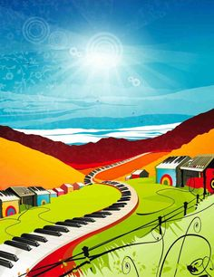 Piano Road Painting