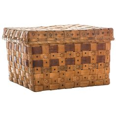 Mid-19th Century Native American Splint Basket | From a unique collection of antique and modern native american objects at https://www.1stdibs.com/furniture/folk-art/native-american-objects/