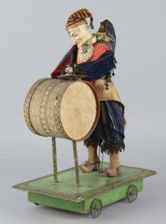 Clown Jester Antique Figural Pull Toy
