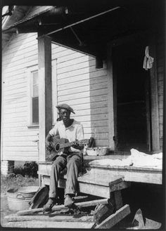 Blues...MUSICIAN, BILL TATNALL, in Frederica, Georgia, 1935.     |     Credit: Alan Lomax