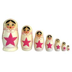 Nesting Doll Pink Star 7Pc