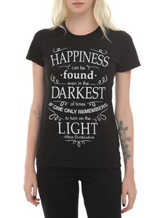 7f917f668 Harry Potter Albus Dumbledore Happiness Quote Girls T-Shirt
