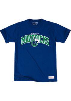 ffcfeb67ce5 Mitchell and Ness Dallas Mavericks Blue Tailored Short Sleeve Fashion T  Shirt - 56500353