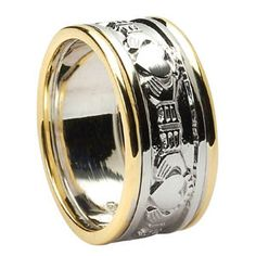 Black Zirconium Celtic Irish Claddagh Ring Hands Clasping Heart Band Carved Any Size 4 To 20 By Stonebrook Jewelry