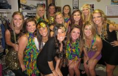 Women of Mardi Gras - Bing images Social Themes, Social Events, Mixer Themes, Sorority Socials, Halloween Party, Halloween Costumes, Clever Costumes, New Orleans Mardi Gras, Party Themes