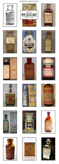 Great collection of vintage medicine bottles.