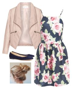 """""""Floral Print Spring Dress"""" by kayladaas on Polyvore featuring Zizzi, Sans Souci and Chloé"""