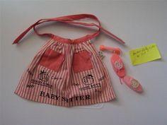 Vintage Barbie Baby Sits Babysitter Apron Phone Doll #953 1963 1964 Vintage # #Accessories