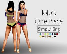 Sims 4 CC's - The Best: JoJo's One Piece Outfit for Females by SimplyKing
