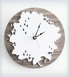 Rain Day Wall Clock.