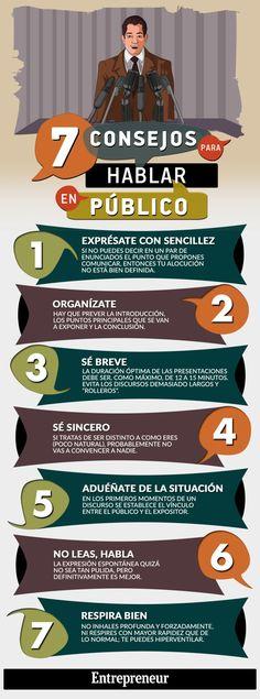 Consejos para hablar públicamente - Infografía