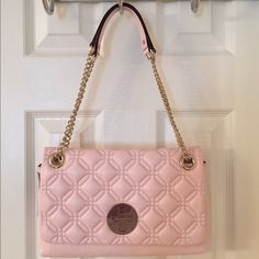 Kate Spade Cynthia Pink Quilted Leather Bag Nwt.  Gold hardware.  Flap closure. kate spade Bags