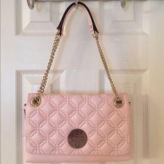 HP Kate Spade Cynthia Pink Gold Leather Bag Nwt.  Gold hardware.  Flap closure. kate spade Bags