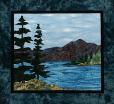 """""""Lakeside Retreat"""" Pieced Quilt Pattern by Cynthia England"""