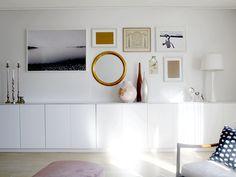 studio karin: ETT HEM I STÄNDIG FÖRÄNDRING Storage Shelves, Shelving, Home Interior Design, Interior Decorating, Next At Home, Ikea Hack, House Colors, Sideboard, Sweet Home