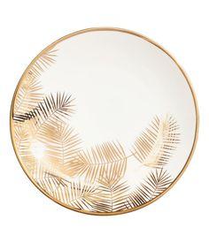 Porselensfat med trykk | Hvit/Palmeblad | Home | H&M NO