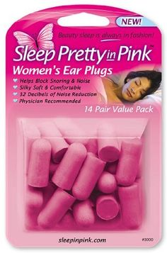 Sleep Pretty in Pink Womens Ear Plugs 14Pair Pack of 3 PackageQuantity 3 Model -- Check out the image by visiting the link.