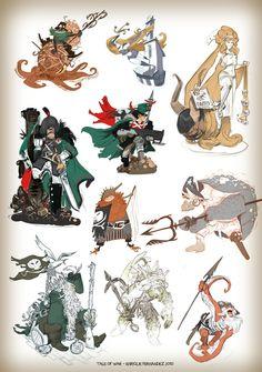 Enrique Fernández - Character Design Page