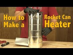 Rocket Mass Heater Plans - Step by step instructions show you how to build a DIY rocket mass heater with cans. A rocket heater can also be used as a stove. Diy Rocket Stove, Rocket Mass Heater, Rocket Stoves, Diy Heater, Stove Heater, Survival Prepping, Emergency Preparedness, Survival Stove, Survival Gear