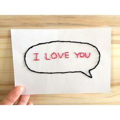 お洒落度UP☆メッセージカードにもおすすめの簡単な紙刺繍のやり方☆ - curet [キュレット] まとめ Love You, My Love, Paper Crafts, Scrapbook, Letters, Embroidery, Stitch, Sewing, Birthday