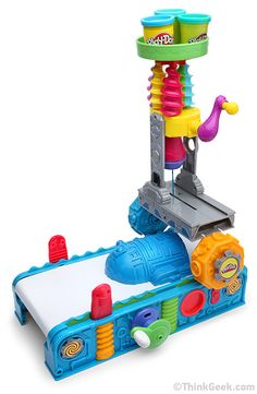 Play-Doh 3D Printer. Not quite as much fun as a MakerBot printer, but still, fun stuff...