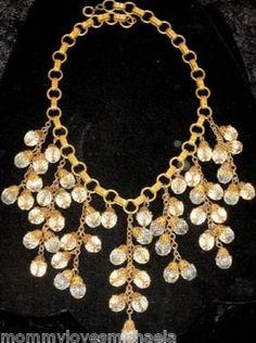 Vintage Miriam Haskell Crystal Beaded Festoon Necklace