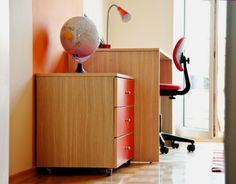 http://www.yotka.pl/, work desk for girl. Biurko z kontenerkiem, YOTKA - wyposażenie wnętrz meble