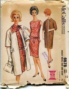 1960s Vintage McCalls 6679 Sleeveless by DesignRewindFashions, $20.00