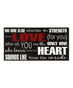 Take a look at this Black & White Strength of My Love Wall Art by Vinyl Crafts on #zulily today!