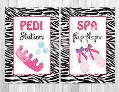 Spa Party Instant Download