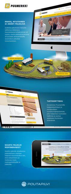 Rakensimme Puumerkille responsiivisen, intuitiivisen ja aidosti kohderyhmiään palvelevan verkkopalvelun. Raikas ulkoasu kätkee alleen mm. erittäin laajan alan ammattilaisille kehitetyn tuotetietokantakokonaisuuden ja useat kieliversiot.   #responsivedesign #responsive #webdesign #website #ui #graphic