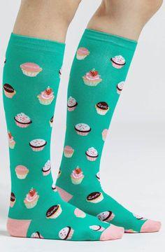 Let Them Eat Cupcakes Knee High Socks
