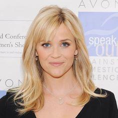 Reese Witherspoon& Fresh, Pretty Makeup Look Long Hair With Bangs, Hair Bangs, Wispy Bangs, Medium Hair Styles, Long Hair Styles, Pretty Makeup Looks, Makeup Tricks, Makeup Ideas, Fringes