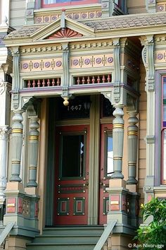 Victorian home with color detail