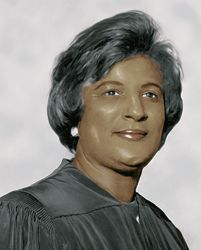 Constance Baker Motley First African American Woman Federal Judge, Leading Civil Rights Lawyer, New York State Senator, Manhattan Borough President, 1st African American Federal Judge U.S. District Court for the Southern District of New Yor, New York, 1st Female Attorney, NAACP Legal Defense and Educational Fund. Attended Fisk University, B.A. New York University, 1943; L.L.B. Columbia University Law School, 1946. Member of Alpha Kappa Alpha, Sorority, Inc.  .