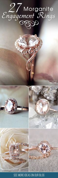 New Collection For Bague de Fiançailles 2018 : Description 27 Morganite Engagement Rings Were Are Obsessed With ❤ Morganite is named a Crystal of Divine Love. Morganite engagement ring will be wonderful choices, your girl will be have unusual and gorgeous Best Engagement Rings, Vintage Engagement Rings, Wedding Engagement, Morganite Engagement Rings, Crystal Engagement Rings, Colored Engagement Rings, Rose Gold Morganite Ring, Rose Gold Engagement, Ring Verlobung