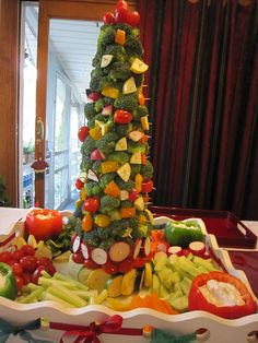 Veggie Christmas Tree
