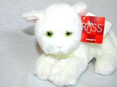 """RARE Russ 8"""" plush White Short Haired cat kitten w Green Eyes SOPHIE 24040 NEW   eBay"""