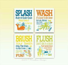 Etonnant Bathroom Signs Bathroom Posters, Kids Bathroom Art, Childrens Bathroom,  Girl Bathrooms, Upstairs