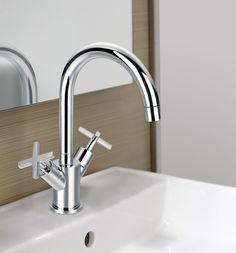 Serie Morea grifo de lavabo de Clever Platinum