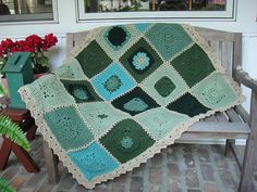 """More V's Please - 12"""" square - free ravelry download by Melinda Miller - it makes a beautiful afghan!"""