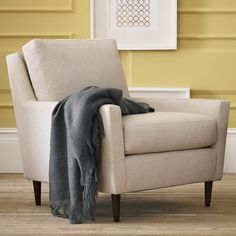 """If this is comfortable to you, I love it.  On retail sale for $500-$800 before 15% trade discount and depending on fabric.  Ottomon additional.  32.5""""w x 33""""d x 33""""h.  Everett Armchair 