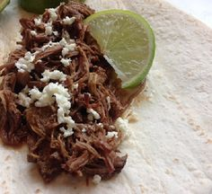 If you love Beef Barbacoa, then you'll enjoy this recipe served in tacos or over rice. Slow cooker and Instant Pot Pressure Cooker instructions provided.