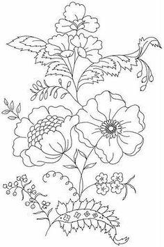 Flores para bordar o pintar