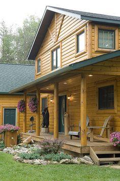 Log Cabin by Golden Eagle Log Homes by Golden Eagle Log Homes, via Flickr