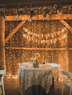 There are a lot of well-done and unique twists on rustic favorites in this barn wedding.