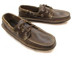 9187a6beab7 Quoddy Boat Moc - Natural Chromexcel with Dark Brown Handsewn Vibram Sole